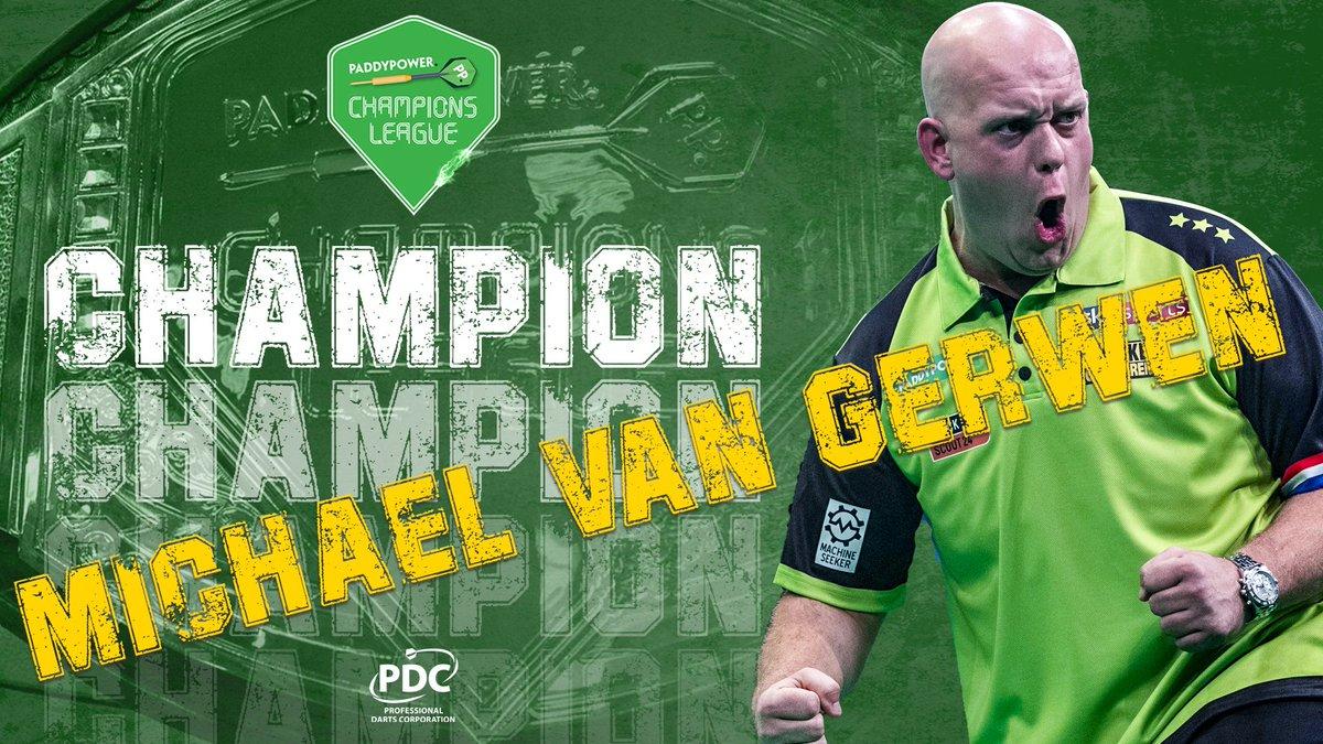 Pdc Darts S Tweet Champion Michael Van Gerwen Wins