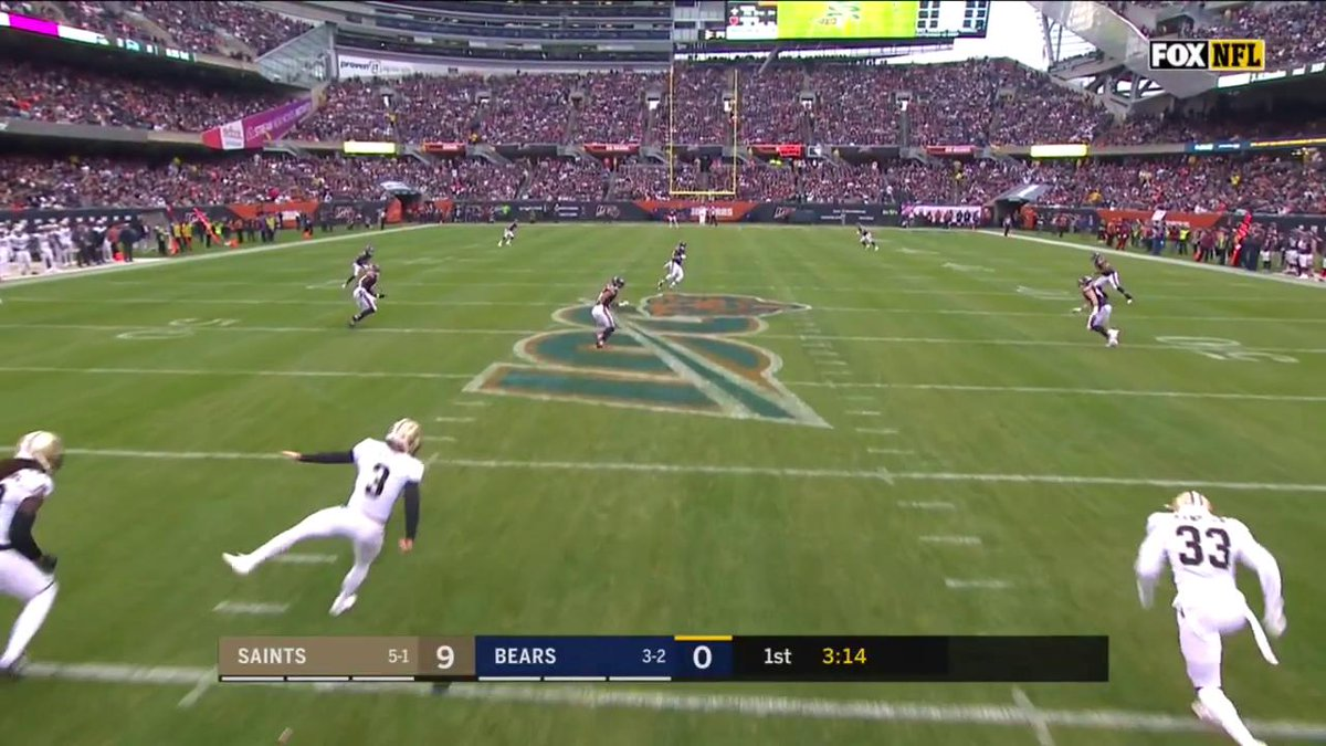 FOX's Angle For The Bears' Kickoff Return TD Was Incredible