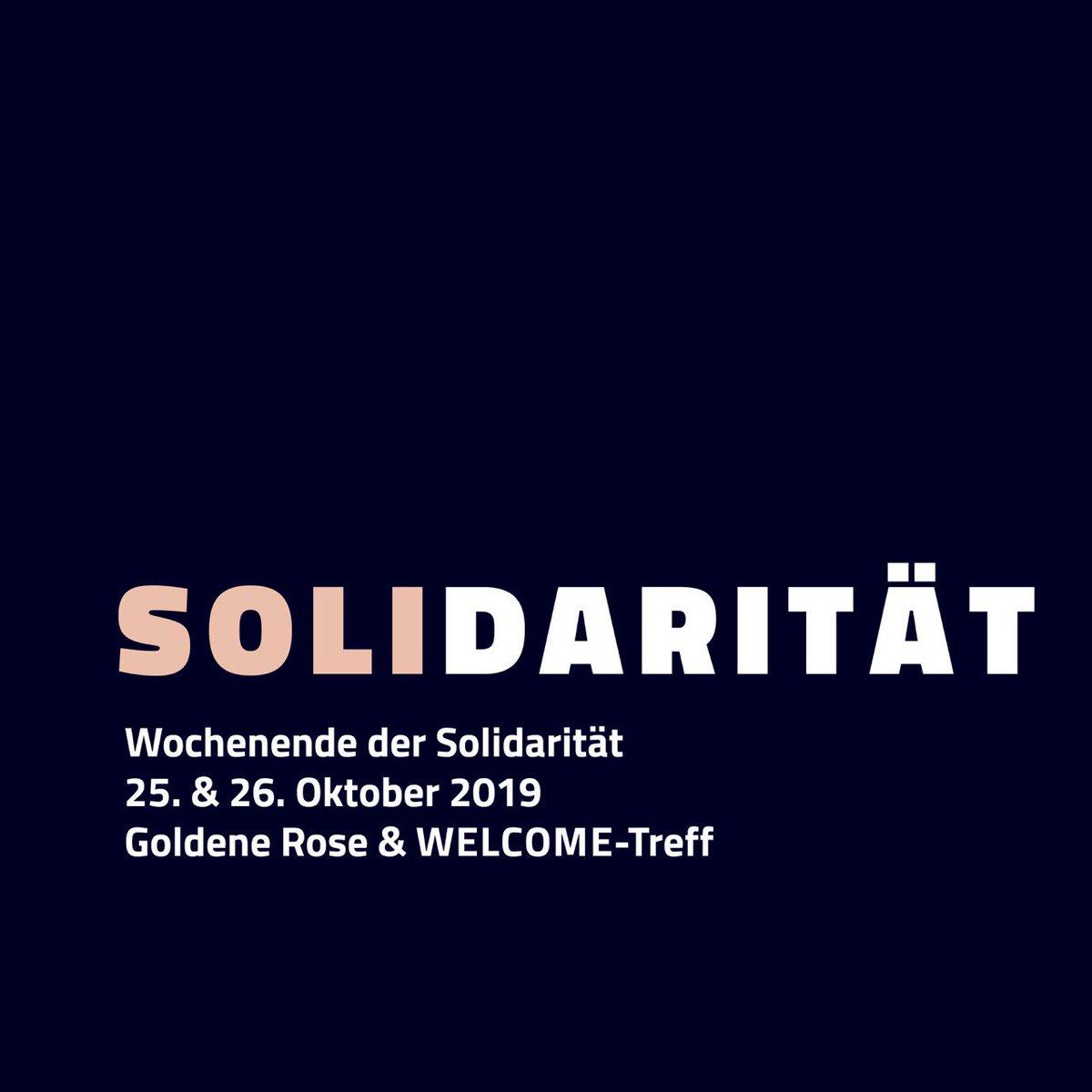 Wochenende der Solidarität am 25. und 26.10.2019 in Halle nähere Infos : facebook.com/events/1215924… alle Einnahmen werden dem Opferfond des Miteinander e.V. gespendet um u.a. die Betroffenen des Anschlags vom 09.10. zu unterstützen miteinander-ev.de/opferfonds/ #hal0910 #HalggR