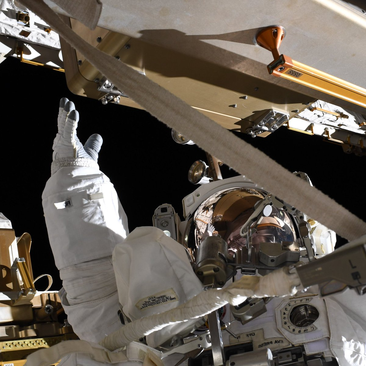 To all those reaching to new heights: yes you can. #AllWomanSpacewalk