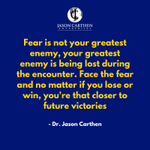 Image for the Tweet beginning: Fear is not your greatest
