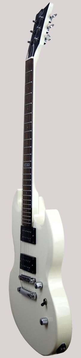 takamine esp white electric guitar