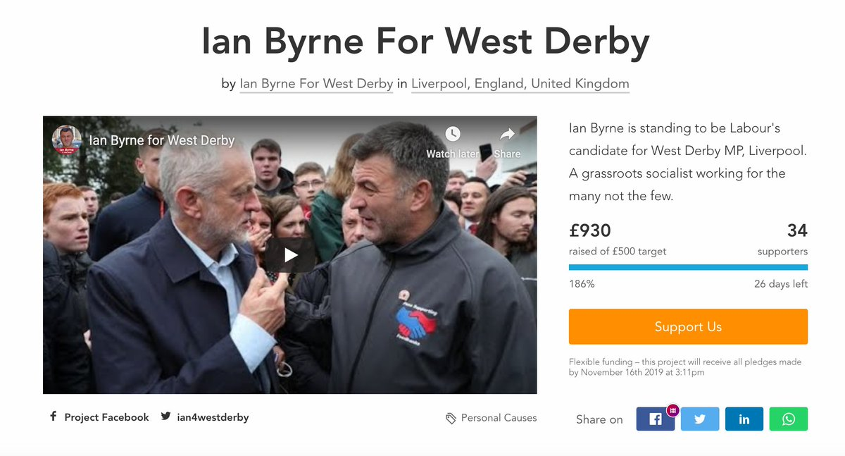 Wow! We have absolutely smashed our target in just one day. Im truly humbled for all the support Ive received. We will be stepping up our campaign over the coming days. If you would like to get involved, please email 📩 ian4westderby@gmail.com crowdfunder.co.uk/ian-byrne-for-…
