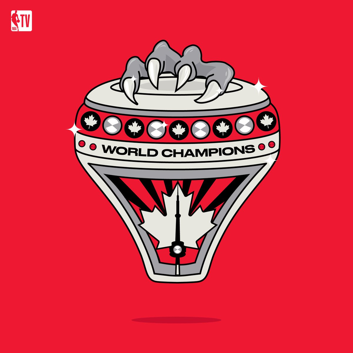 What do you think the @Raptors should use for their 2019 championship ring design? 💍🤔 Enter our @NBA_Reddit Raptors Ring Design Challenge & create your own look: bit.ly/2MAoNdH