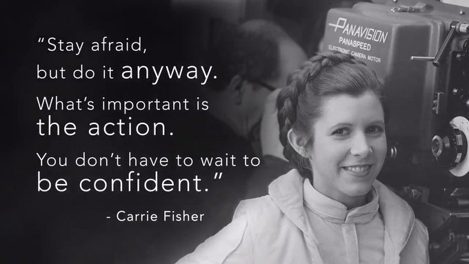 Happy birthday Carrie Fisher, thank your for being our princess!