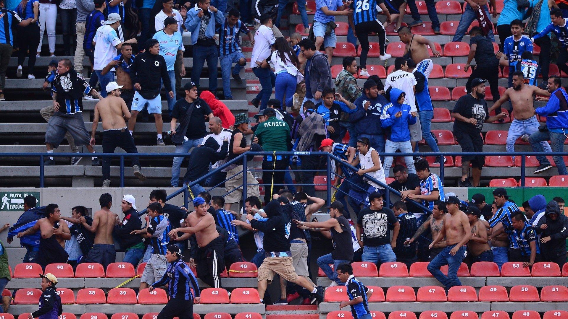 violencia en el futbol mexicano, San Luis, Querétaro