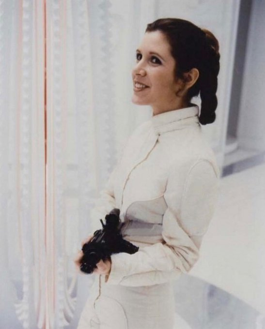 Carrie Fisher appreciation message.  Happy 63 birthday, my princess.   (3)