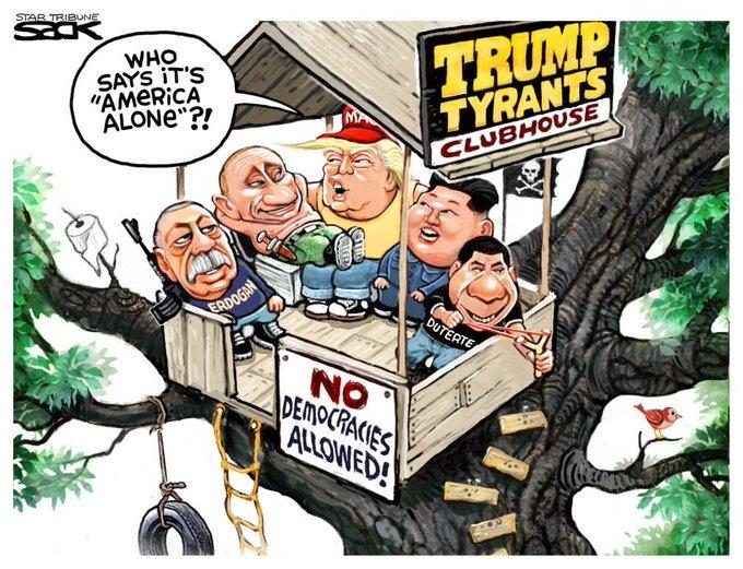 No democracies allowed?!!! #ImpeachTrump #TrumpIsADisgrace #SundayMotivation <br>http://pic.twitter.com/4pnYo1FNbT