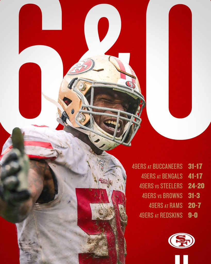 San Francisco 49ers On Twitter Stay Hot The 49ers Are 6