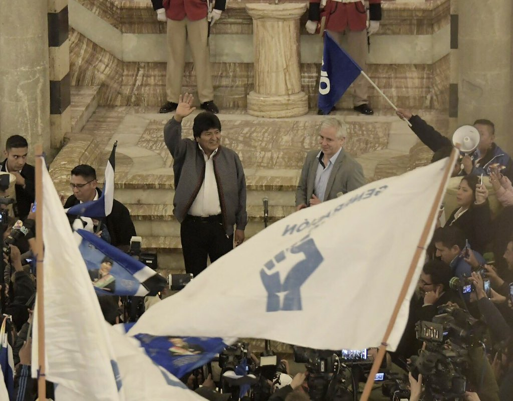 Muchas gracias al pueblo movilizado, a nuestros candidatos y candidatas, a los dirigentes, militantes y simpatizantes por este nuevo triunfo histórico. El esfuerzo y compromiso con Bolivia no han sido en vano. Hemos enfrentado tantas mentiras y el pueblo boliviano se ha impuesto.