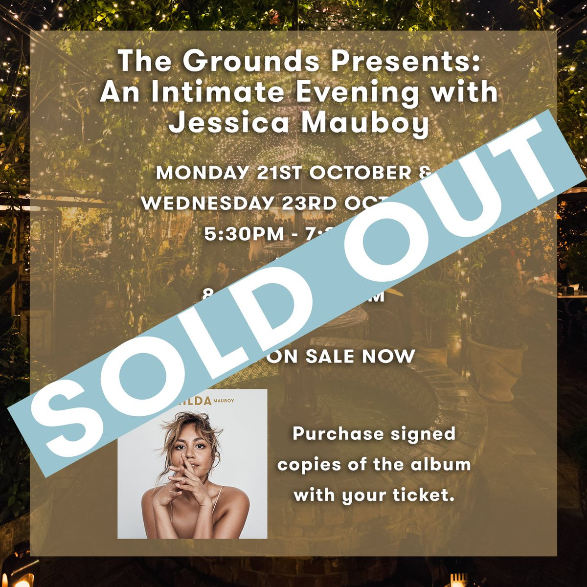 Can't believe The Grounds performances have sold out! I can't wait to see you at the first two shows tonight to celebrate the release of #Hilda .💖 https://t.co/1Kj8Xg6czu https://t.co/8dpNz3zr5z