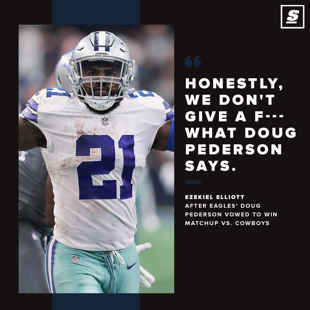 Zeke and the Cowboys arent worried about Coach Pederson one bit. 🔥 🤠 🏈 thesco.re/2VZyiGd