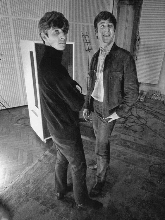 #RingoStarr and #JohnLennon at Abbey Road Studios in 1963 #TheBeatles