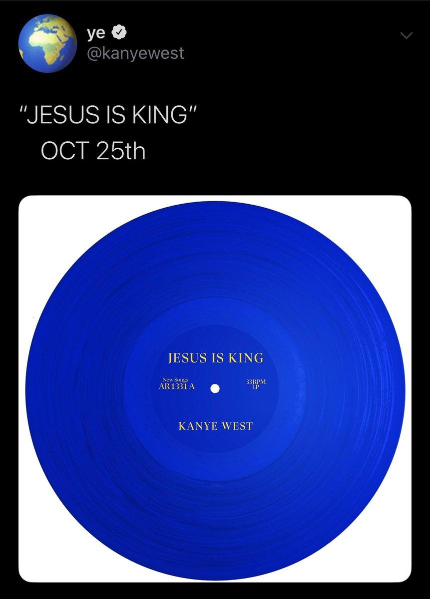 Image result for kanye west jesus is king tweet