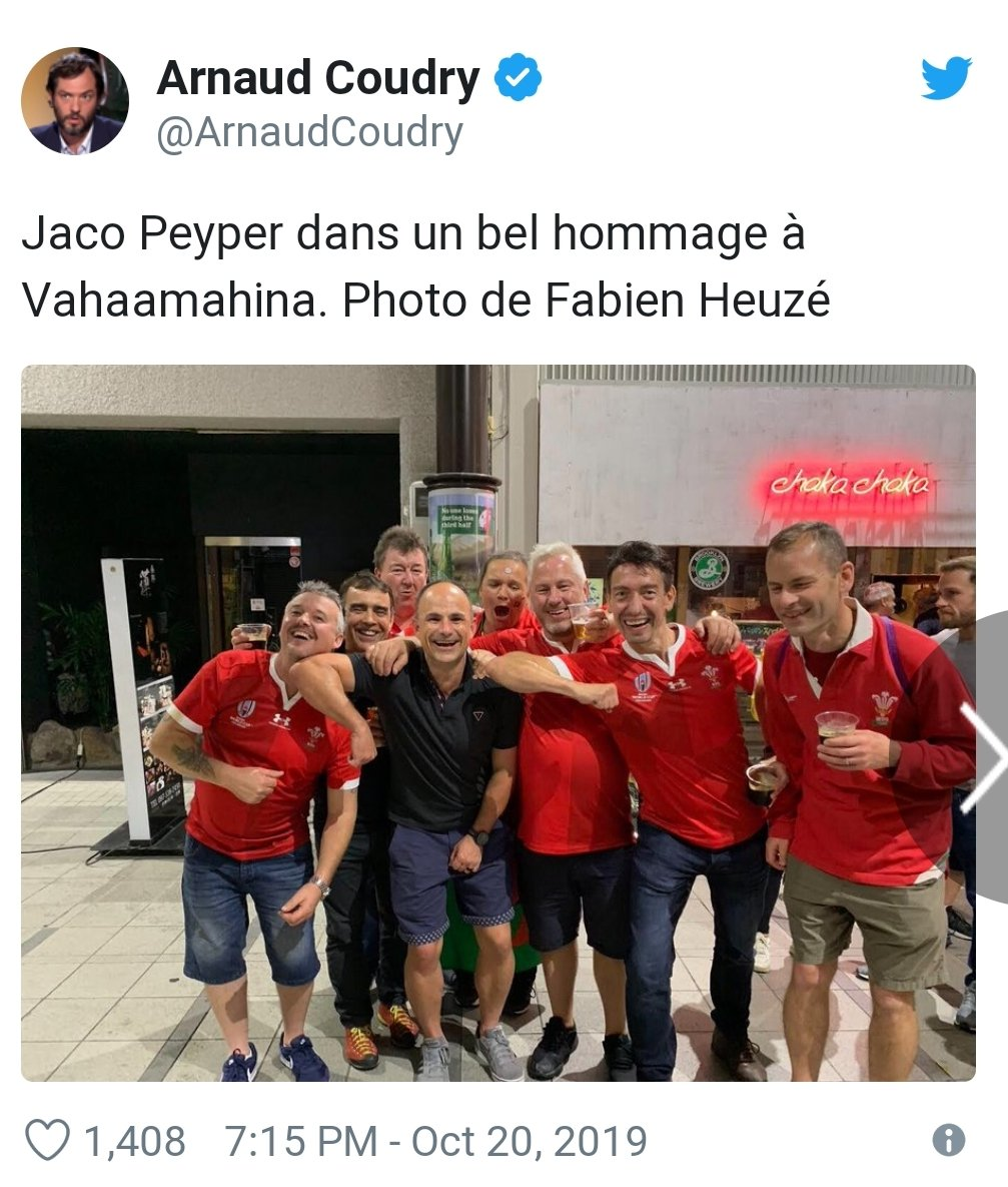 The French have to chill out a bit. I mean this is only an international ref having a laugh with winning fans hours after changing a world cup quarter final game with a controversial red card. Not much in it if you ask me. WC winner definitely coming from ENGVNZ side of draw. <br>http://pic.twitter.com/bLqP5YLikR