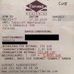 Image for the Tweet beginning: ⚠️ EuronetWorldwide Palermo⚠️ Warnung