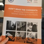 very pleased to be part of the launch of this report and it's very sensible recs for making the workplace on and off line safer @genderequityvic @withMEAA