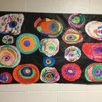 Image for the Tweet beginning: Preschool is studying Kandinsky! #BetheGreaterGator