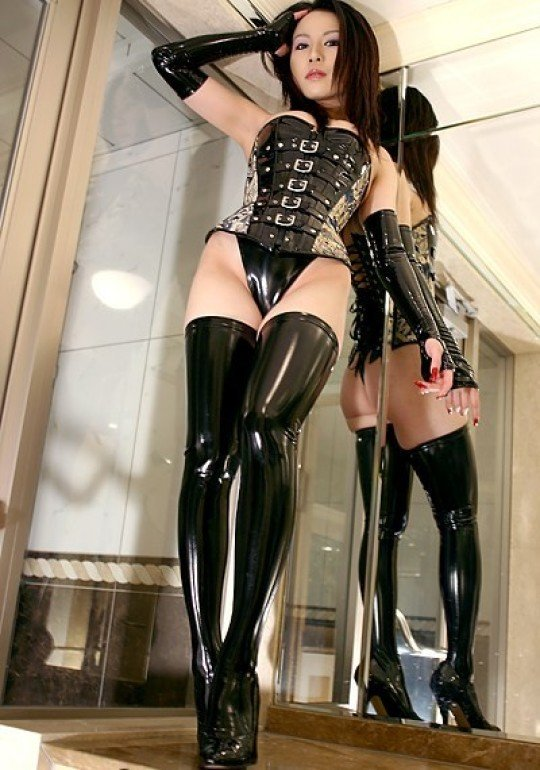 Babes in latex stockings in womens garter belts, in leg model nylons rht