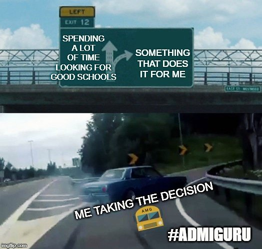 We assure you we are not a bumpy road. So which way will you choose? ALL #SCHOOLS ONE #APP COMING SOON TO JAIPUR! Get to know us: Link:http://admiguru.com/ Facebook: AdmiGuru LinkedIn: AdmiGuru  #jaipurmemes #schoolmemes #memes #AdmiGuru #choosetheyellowbuspic.twitter.com/QVW1FCFtMR