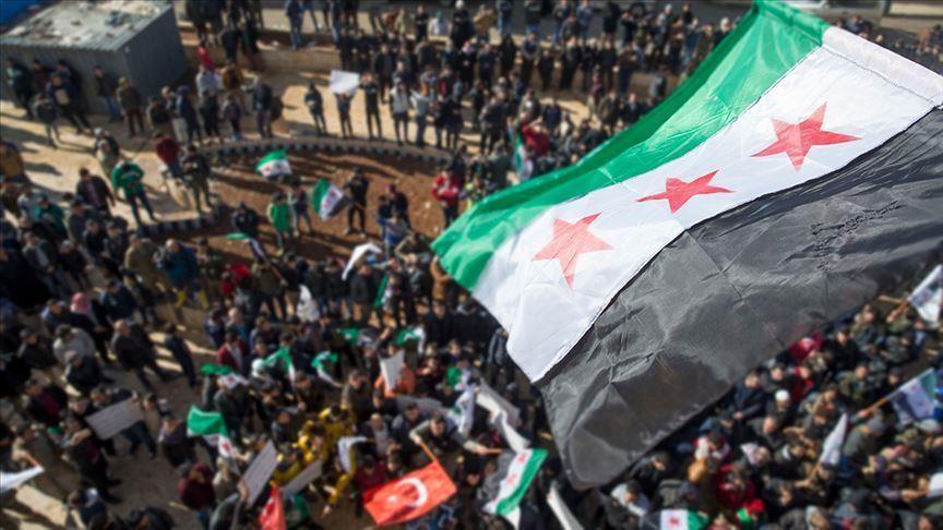 Li Minbîcê gel hebûna rejima Esed û YPG/PKKyê protesto kir v.aa.com.tr/1621477