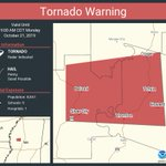 Image for the Tweet beginning: Tornado Warning continues for Belzoni