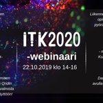 Image for the Tweet beginning: ITK-webinaarissa 22.10. luvassa kuusi upeaa