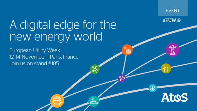 Atos will be at European Utility Week from 12-14 November 2019 showcasing...