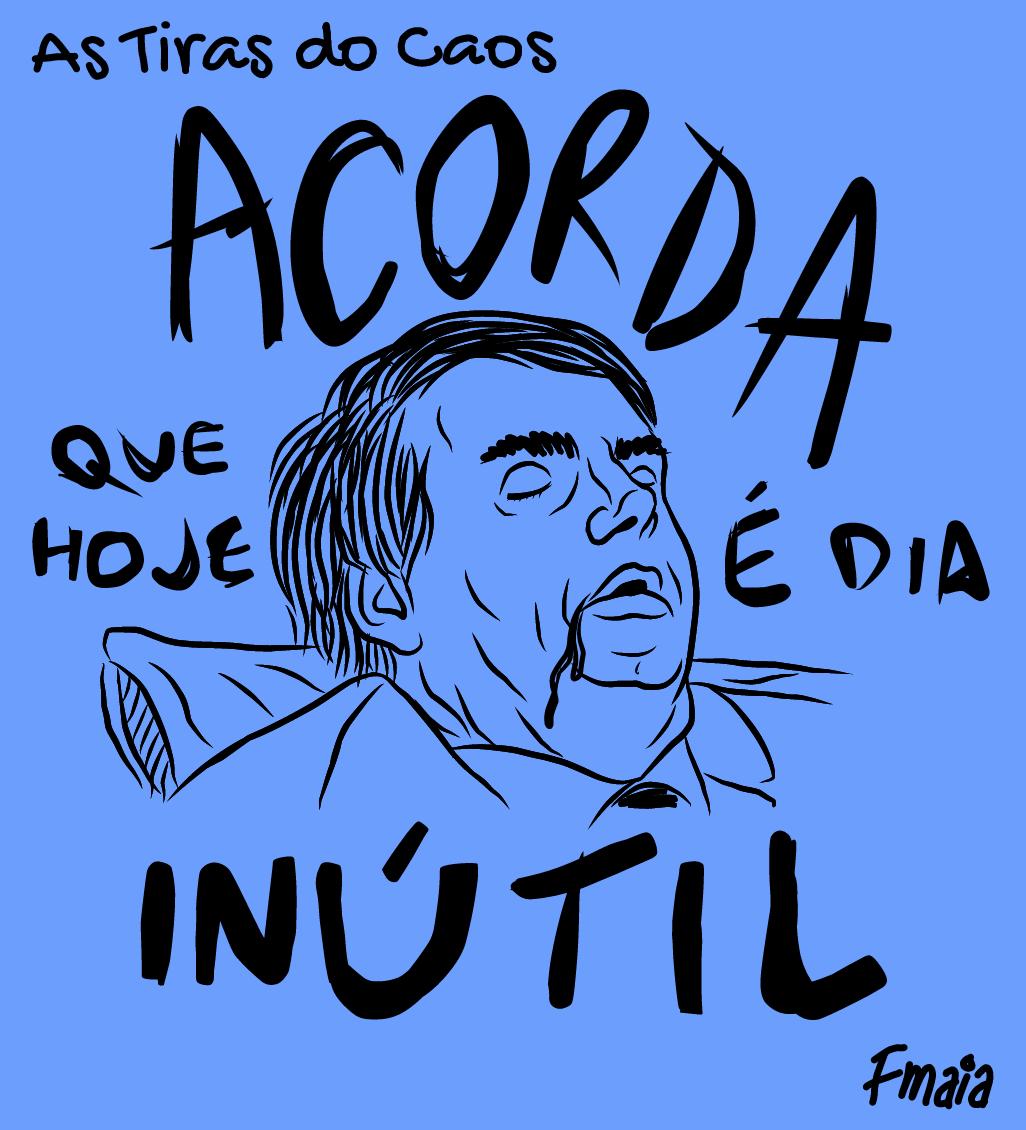 BOM DIA PRA QUEM É DO DIA! 😂😂😂 - #astirasdocaos #fmaia #quadrinhos #tirinhas #comicstrip #cartum #desenho #design #ilustração #memes #brasil #memes #bozo #bolsonaro #inútil #diaútil #segundafeira #semana #bomdia #dorminhoco #soneca #cochilo #dormir