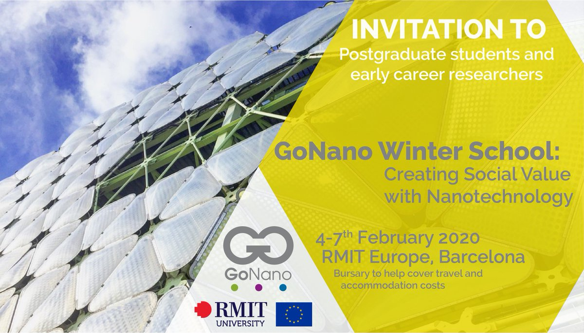 We still have plenty of places available for the GoNano Winter School.👩‍🎓 So don't hesitate. Send in your application now ✍️  #nanotechnology #RRI #PublicEngagement #HealthTech #Energy #FoodTech