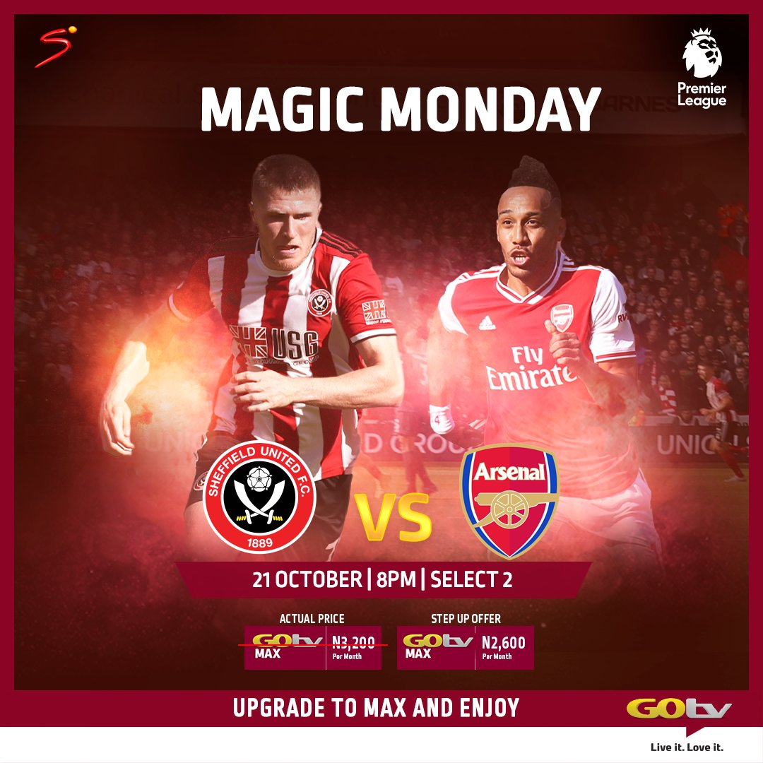 Where are the Gunners? Arsenal will be looking for just their second away win of the season when they travel to face Sheffield United tonight. Watch the match LIVE on Select 2 (ch 32) at 8pm on your GOtv. #GoForFootball #PLonGOtv #SSFootball