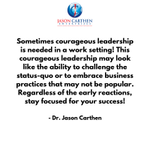 Image for the Tweet beginning: Sometimes courageous leadership is needed