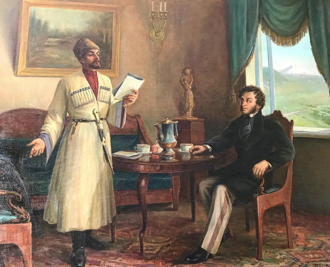 Пушкин и арина родионовна картинки вами