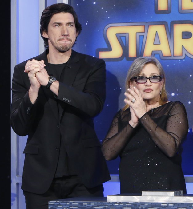 But, I did spank Adam when I first met him, so that felt good Happy Birthday, Carrie Fisher