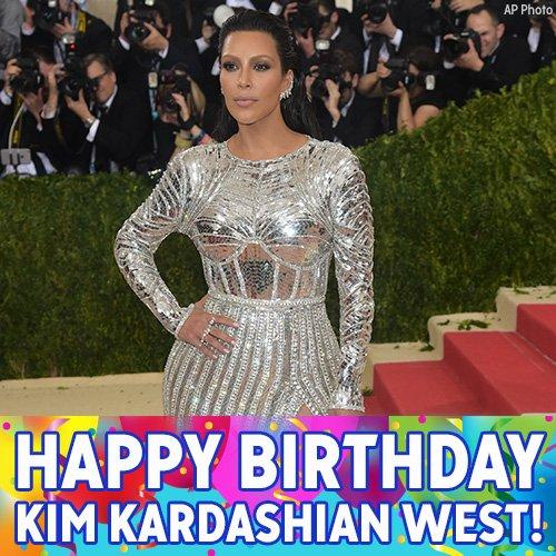 Happy birthday to reality TV star Kim Kardashian West.