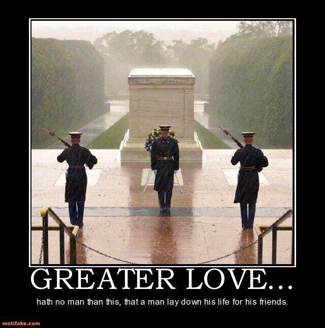 Greater love hath no man than this...