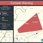 Image for the Tweet beginning: Tornado Warning continues for Millington