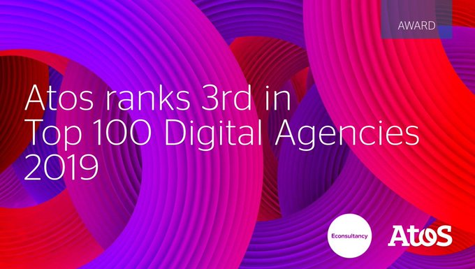 Atos has once again been recognised in the @Econsultancy Top 100 Digital Agencies...
