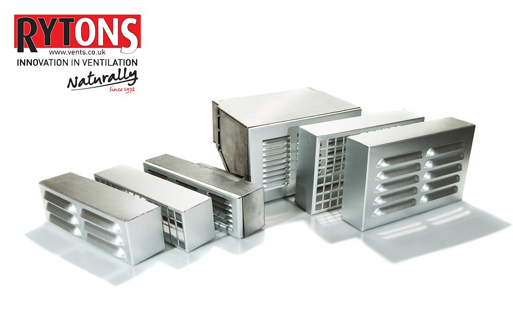 Heating & Cooling Rytons 9X3 Aluminium Louvre Ventilation Grille