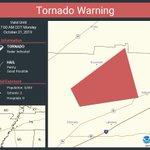 Image for the Tweet beginning: Tornado Warning continues for Shelby