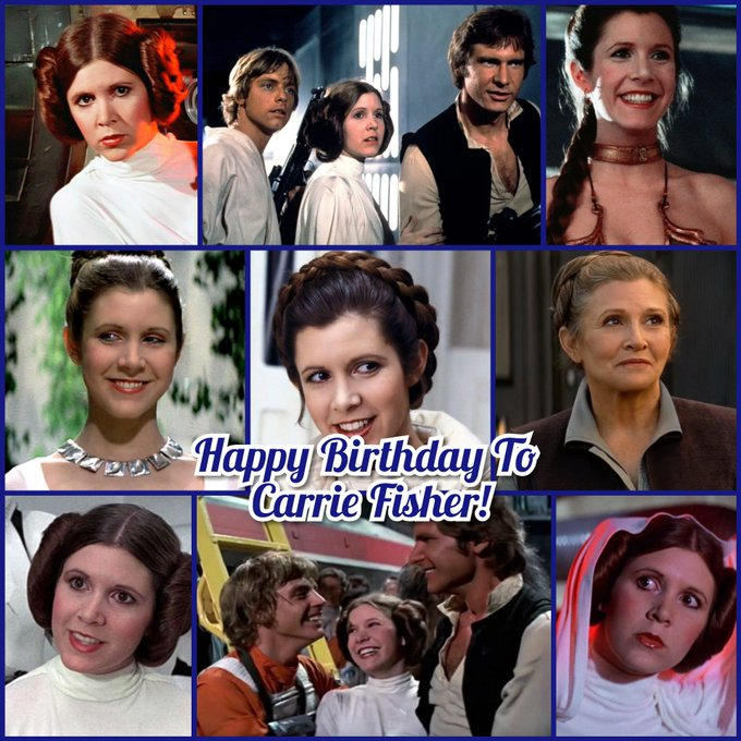 Happy Birthday To Carrie Fisher!  She was a very good actress