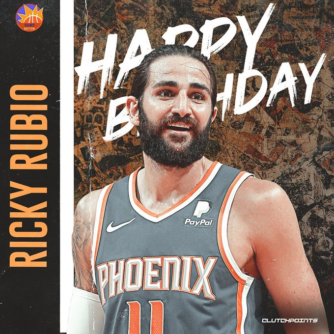 Join Suns Nation in wishing Ricky Rubio a happy 29th birthday!