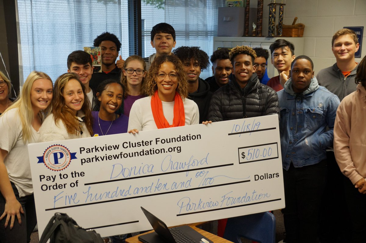 test Twitter Media - Thanks to the Parkview Cluster Foundation for recognizing our fall grant recipients, Ms. Crawford, Ms. Duncan, and Ms. Bibbs-Bugg. https://t.co/uRvFCs0c8l