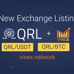 Image for the Tweet beginning: $QRL is now trading against
