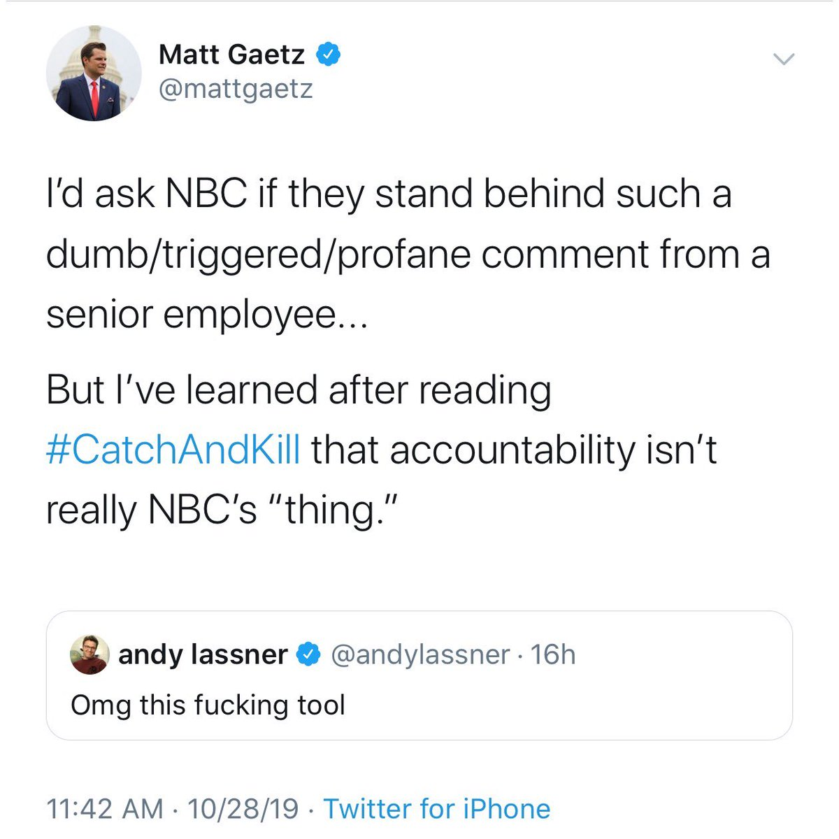 Yashar Ali On Twitter How Dare You Make This Implication Mattgaetz Referencing A Book About The Coverup Of Sexual Misconduct When Talking About Andylassner S Criticism Of You Also He S Not An Nbc I really think 2020 is gonna turn around. twitter