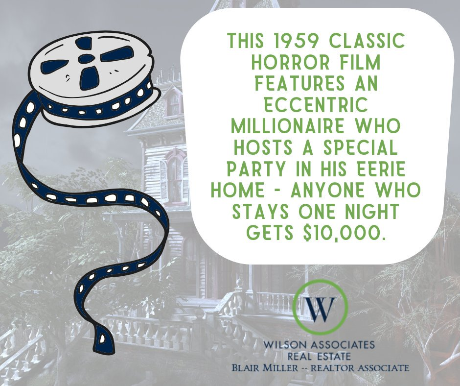 """What better way to celebrate Halloween """"real estate style"""" than with some haunted house trivia? 👻 Can you name the movie? #WilsonAssociates #WilsonAssociatesRealEstate #Greenville #GreenvilleRealEstate #RealEstate #HauntedHouse #Halloween #Movietrivia #LetsGototheMovies"""