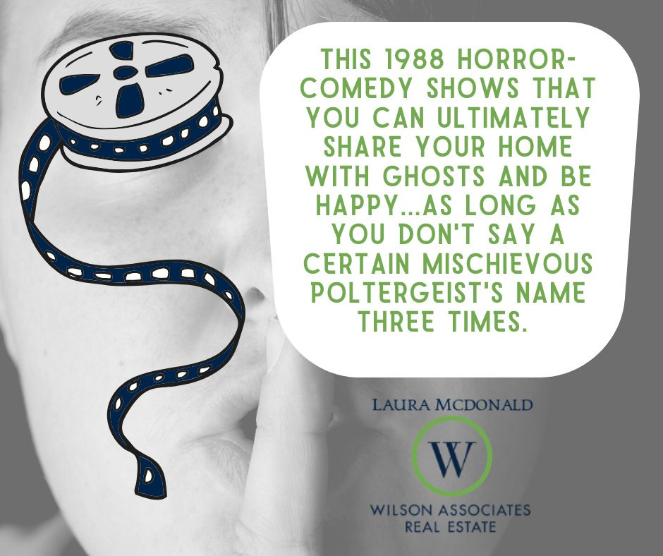 """What better way to celebrate Halloween """"real estate style"""" than with some haunted house trivia? 👻 Put your answer below! #WilsonAssociates #yeahthatgreenville #WilsonAssociatesRealEstate #Greenville #GreenvilleRealEstate #HauntedHouse #Halloween #Movietrivia #LetsGototheMovies"""