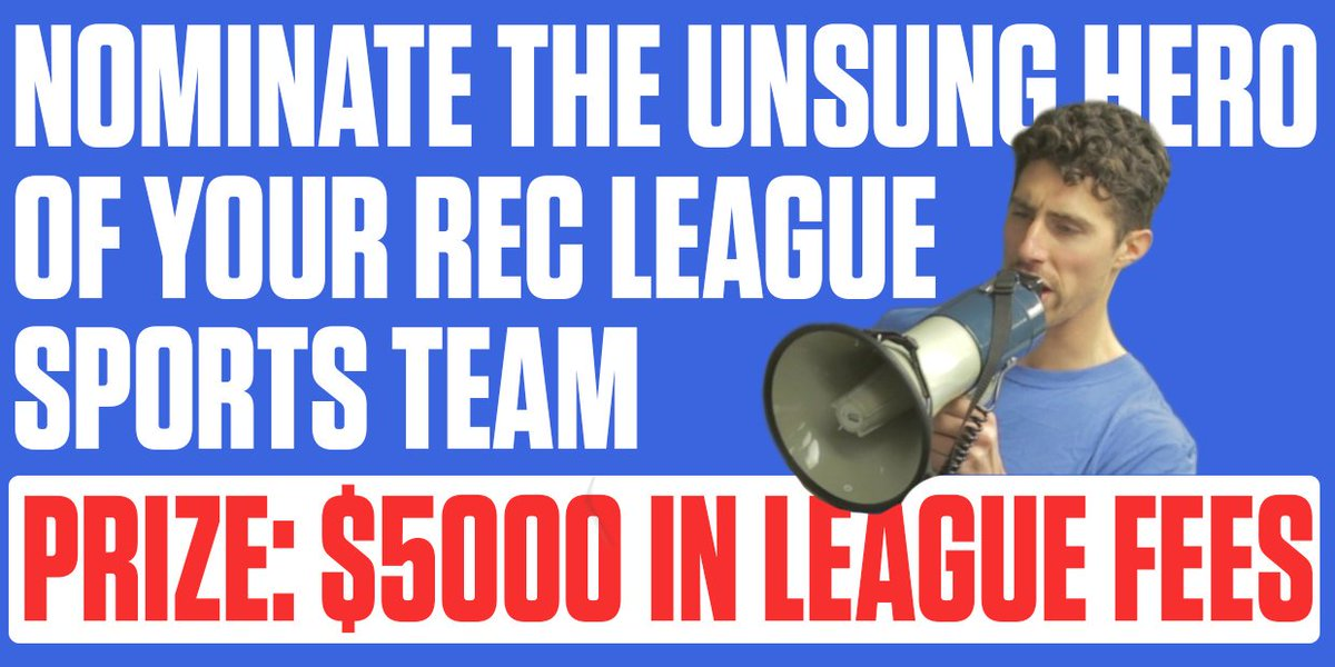 Tsn On Twitter Who S The Unsung Hero Of Your Rec League Team They Can Win 5 000 In Sports League Fees In Vector Ca S Unsunghero Contest Https T Co Pkcfhdxnte Nominate Them Here Https T Co Pkcfhdxnte Https T Co Tyoz1aqaia