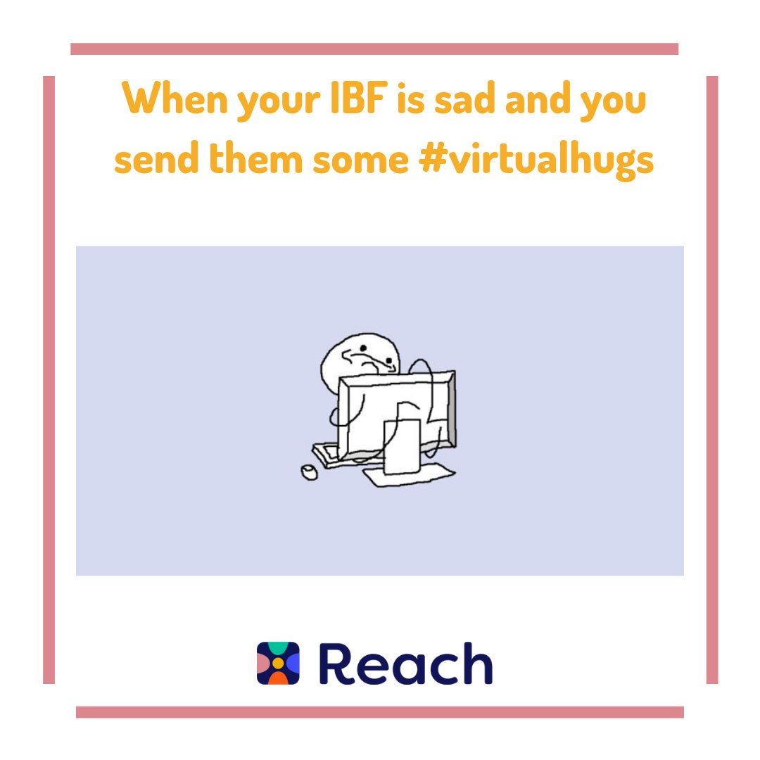 The only downside to an IBF is not being able to cheer them up IRL but virtual hugs are just as important as real ones #Reach #IBF #ReachYourIBFs #IBFgoals #InternetBestFriendspic.twitter.com/fpJ5rZOsMA