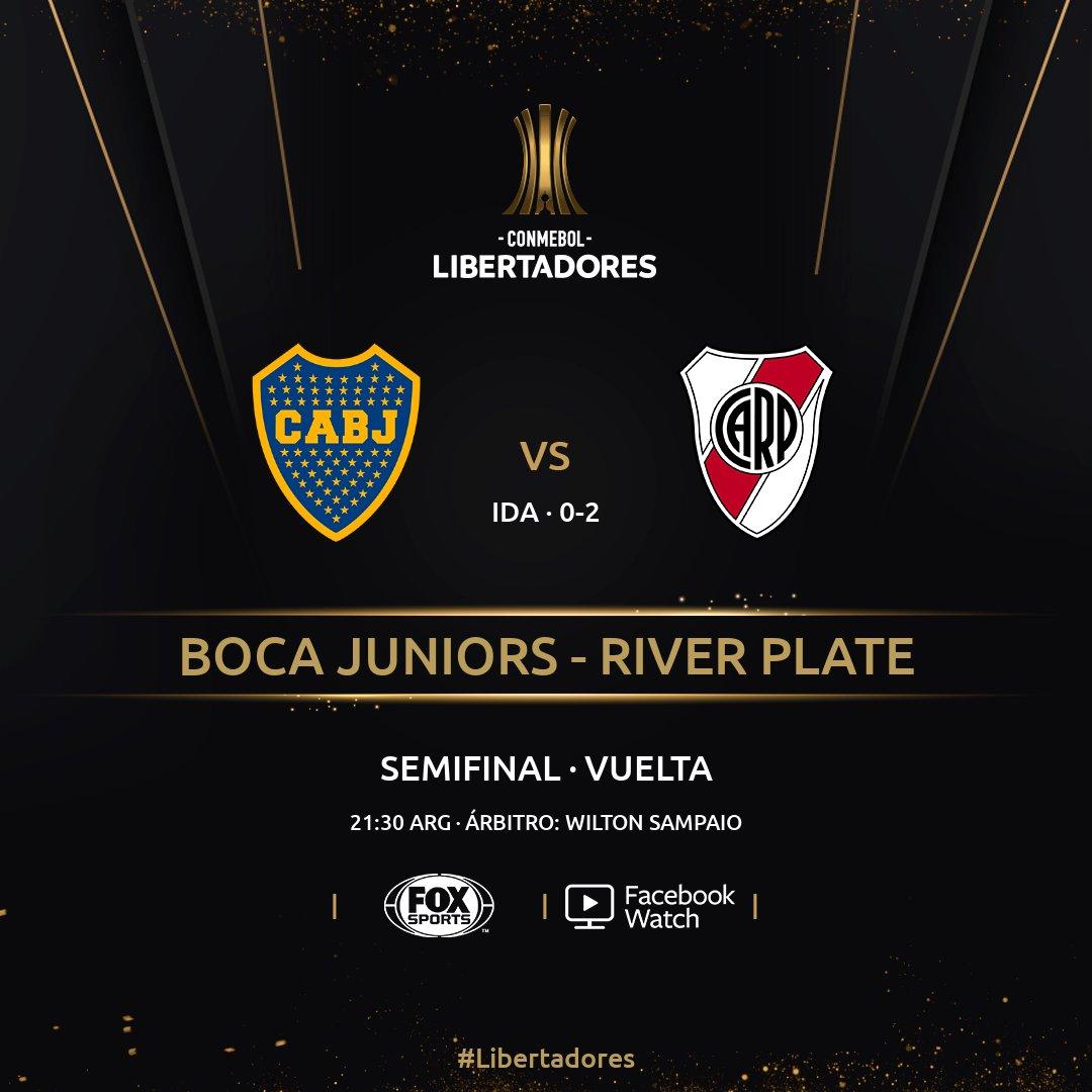 🇦🇷⚽ ¡Llegó el gran día!  🙌 Hoy jugarán la revancha de la semifinal de la #Libertadores @BocaJrsOficial y @RiverPlate.  🔙 En la ida, #River ganó 2-0. ¿Podrá #Boca dar vuelta la serie?  📱💻 El partido se podrá ver por Facebook Watch.